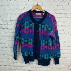 Fair Isles Vintage Sweater Cardigan